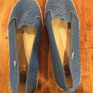 Womens vans shoes blue